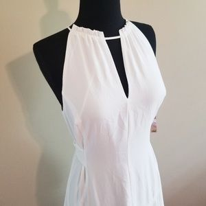 RACHEL Rachel Roy Dresses - NWT Rachel Roy White Halter Grecian Midi Dress 315